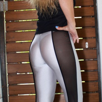 Leggings Materialmix