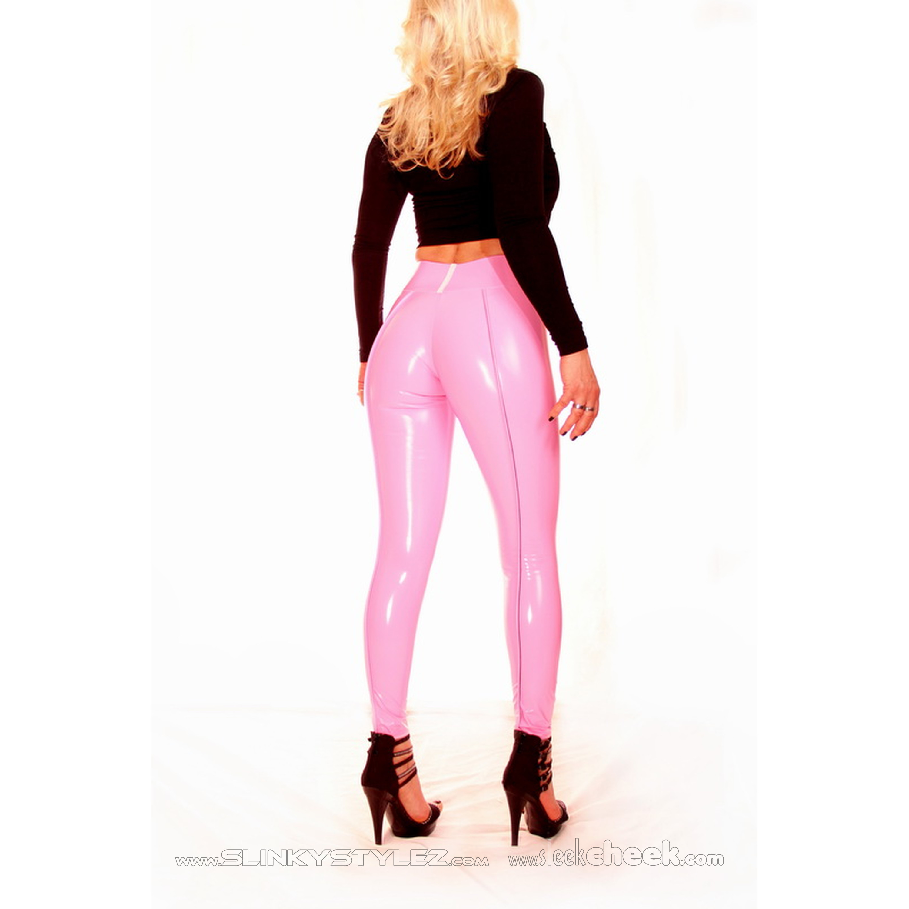 SLEEKCHEEK Booty Leggings HL5AX - CrystalLac Z360 ROSE - STANDARD (L56D)
