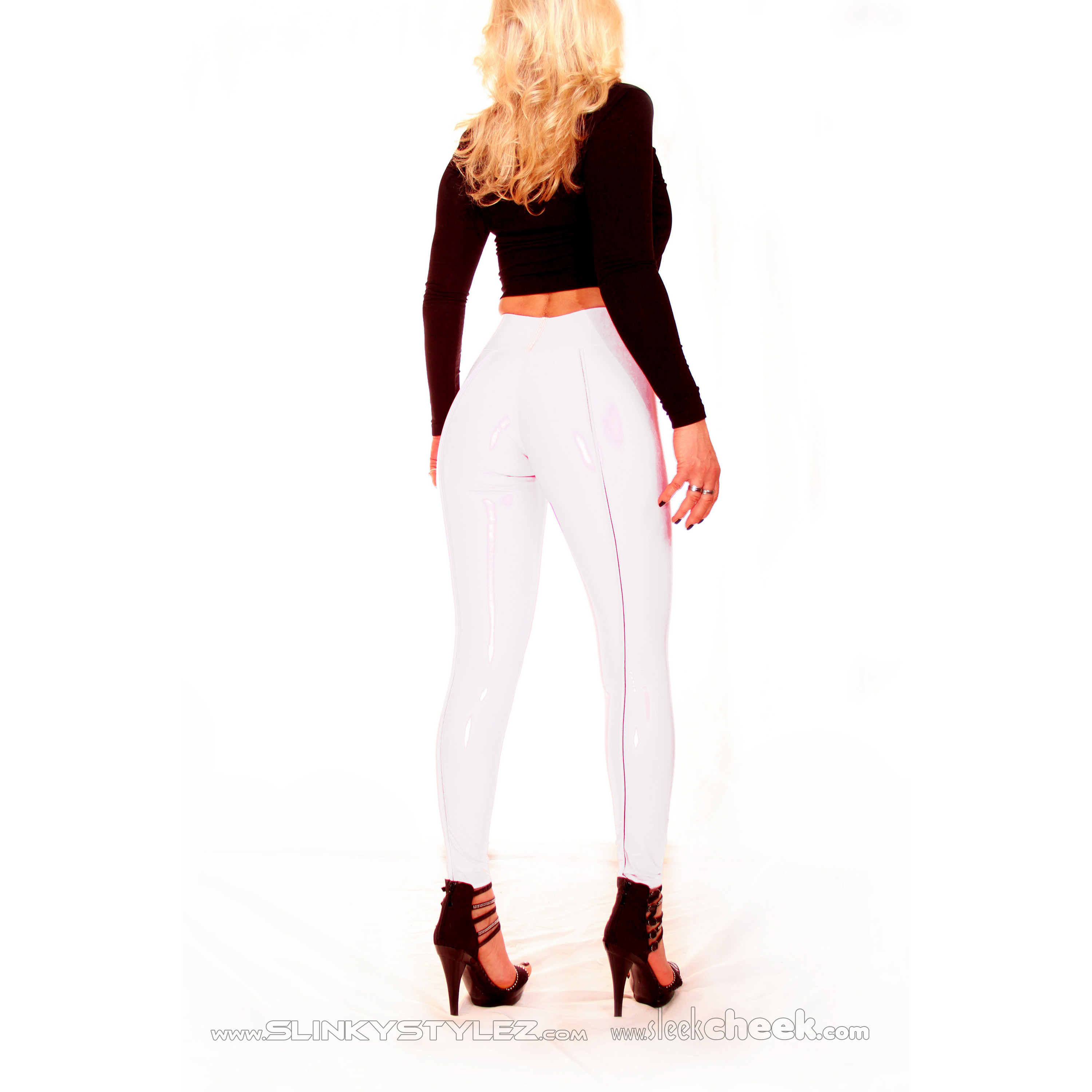 SLEEKCHEEK Booty Leggings HL5AX - CrystalLac Z360 WHITE - STANDARD (L56D)