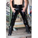 SLINKYSTYLEZ Anatomic OUVERT ZIP Leggings HL3AP_ZV6 - SensiPelle Z650 BLACK - CUSTOM (L32H)