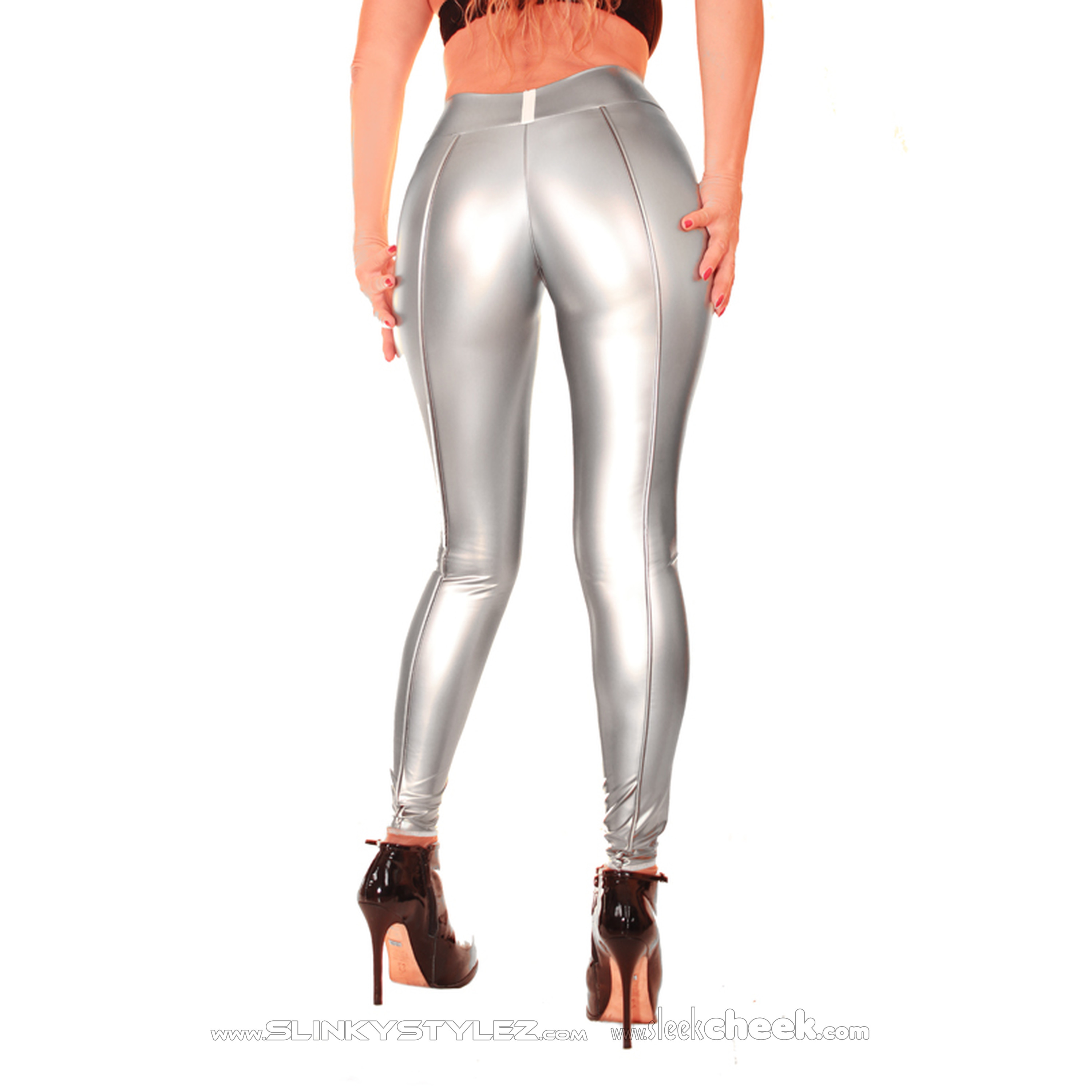 SLINKYSTYLEZ HL5ASX SmoothEdge PussySensation Ouvert-Contour-Leggings - CrystalLac Z360 - CUSTOM (L56D-N34)